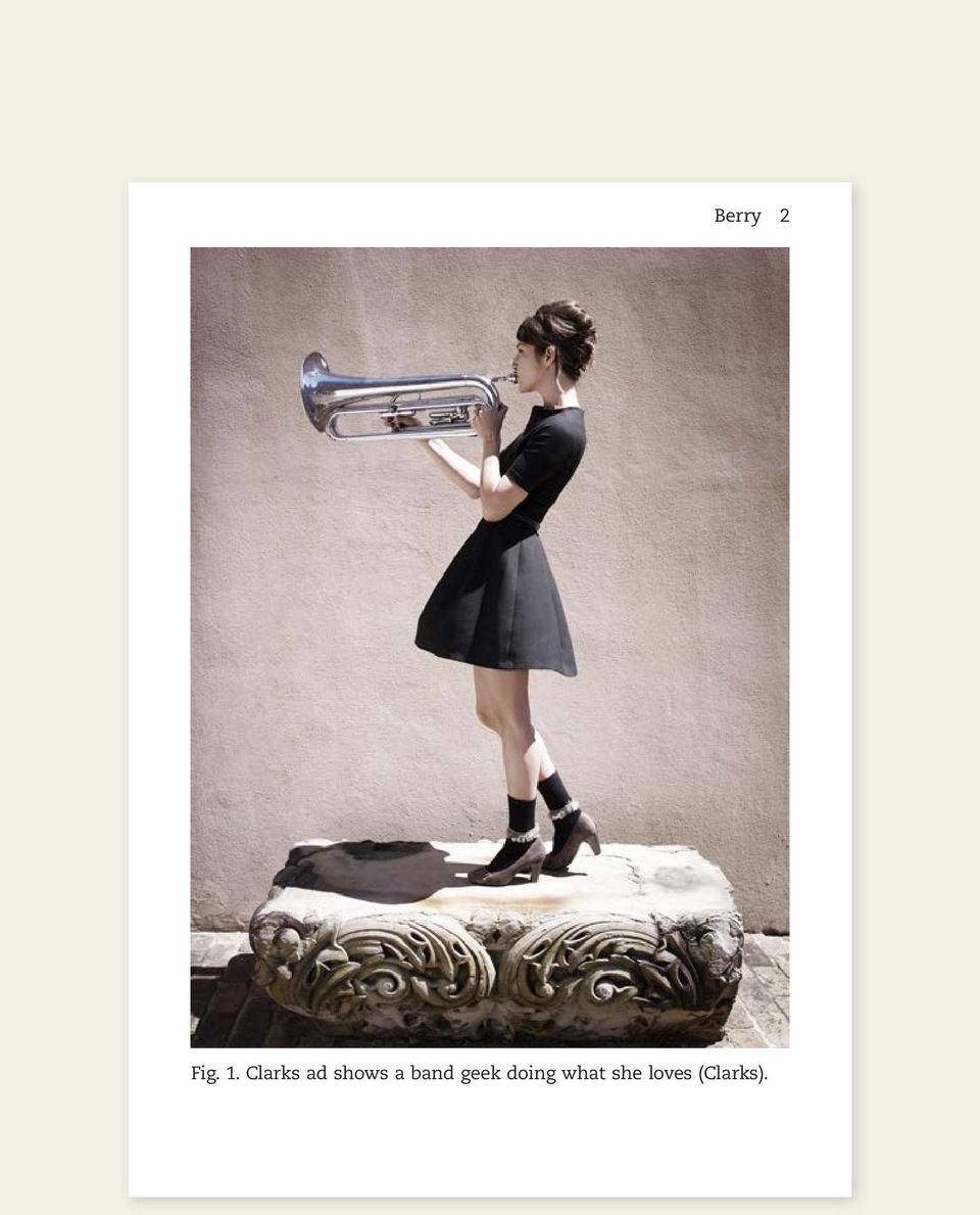 8652f08b1f90 Fig clarks ad shows a band geek doing what she loves clarks pdf jpg  960x1189 Clarks
