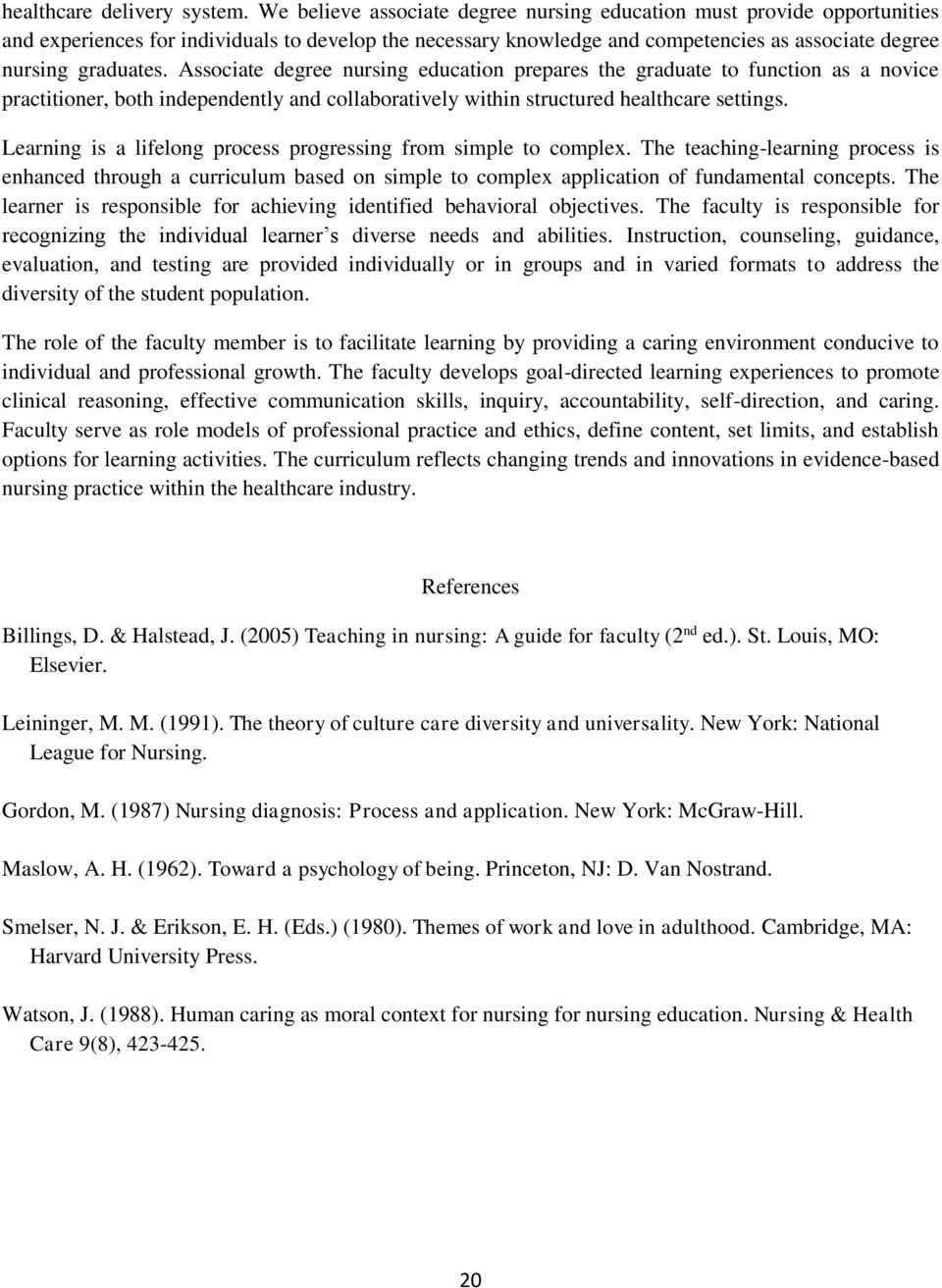 BLINN COLLEGE ASSOCIATE DEGREE NURSING PROGRAM STUDENT HANDBOOK - PDF