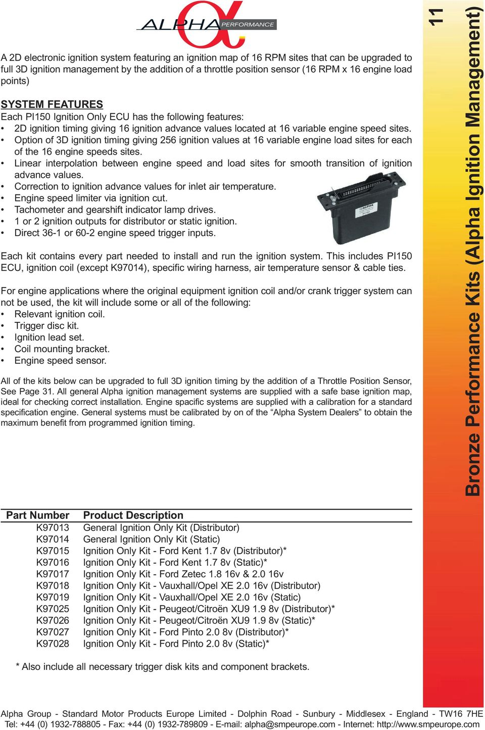 Components Manual Edition Pdf Electronic Throttle Wiring Harness Option Of 3d Ignition Timing Giving 256 Values At 16 Variable Engine Load Sites For 12 Harnesses
