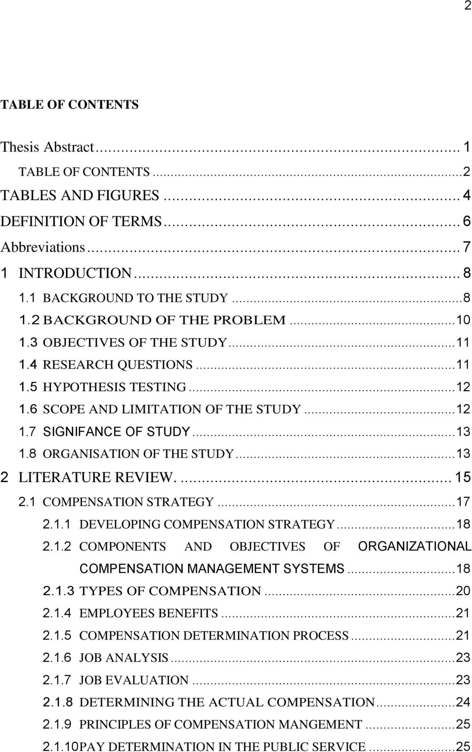literature review on compensation and benefits