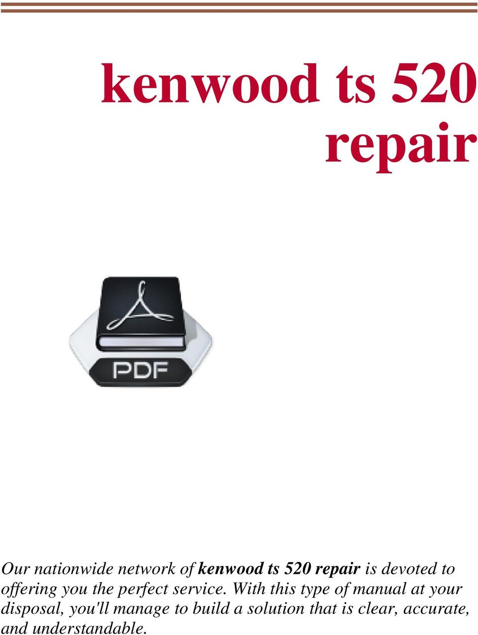 kenwood ts 520 repair pdf