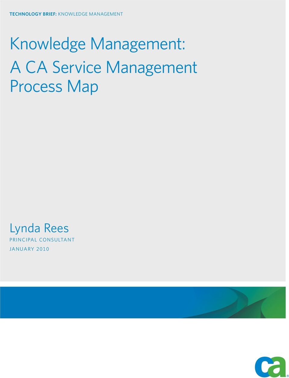 knowledge management a ca service management process map lynda