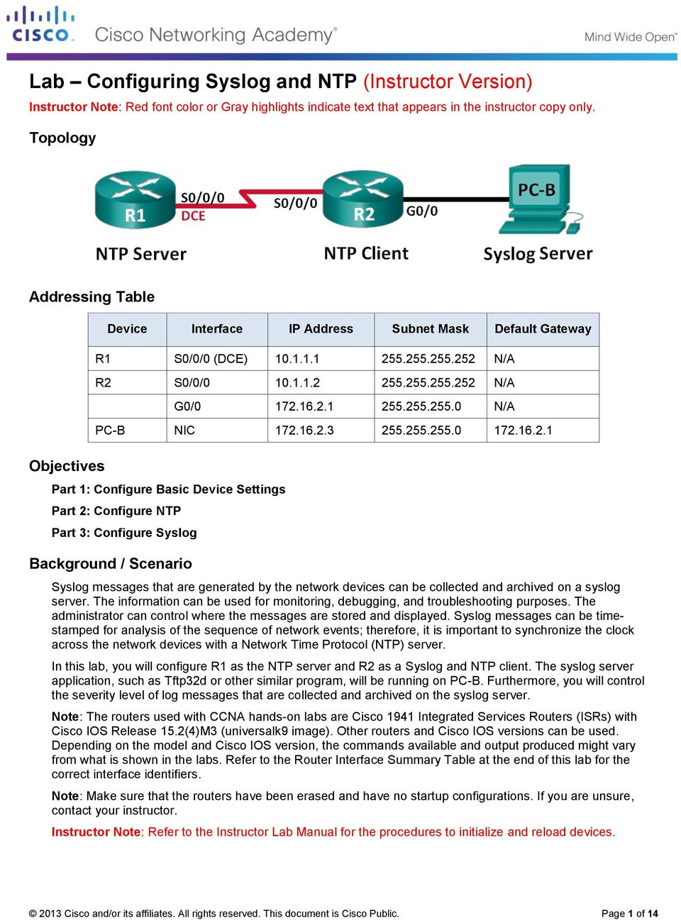 lab configuring syslog and ntp instructor version pdf rh docplayer net Packet  Tracer Lab Exercises Cisco Packet Tracer Labs