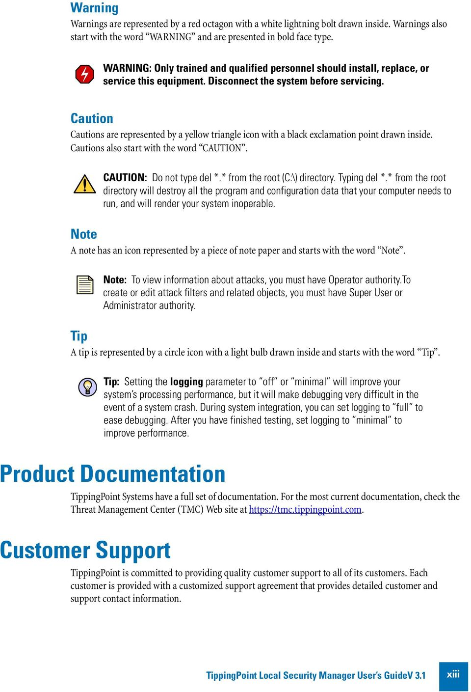 TippingPoint Local Security Manager User s Guide V PDF