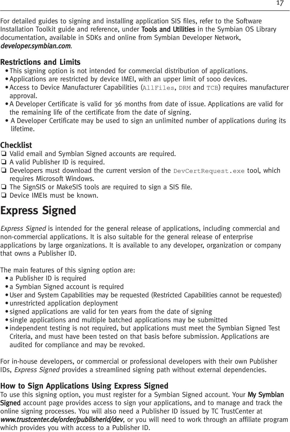 A guide to  Symbian Signed - PDF