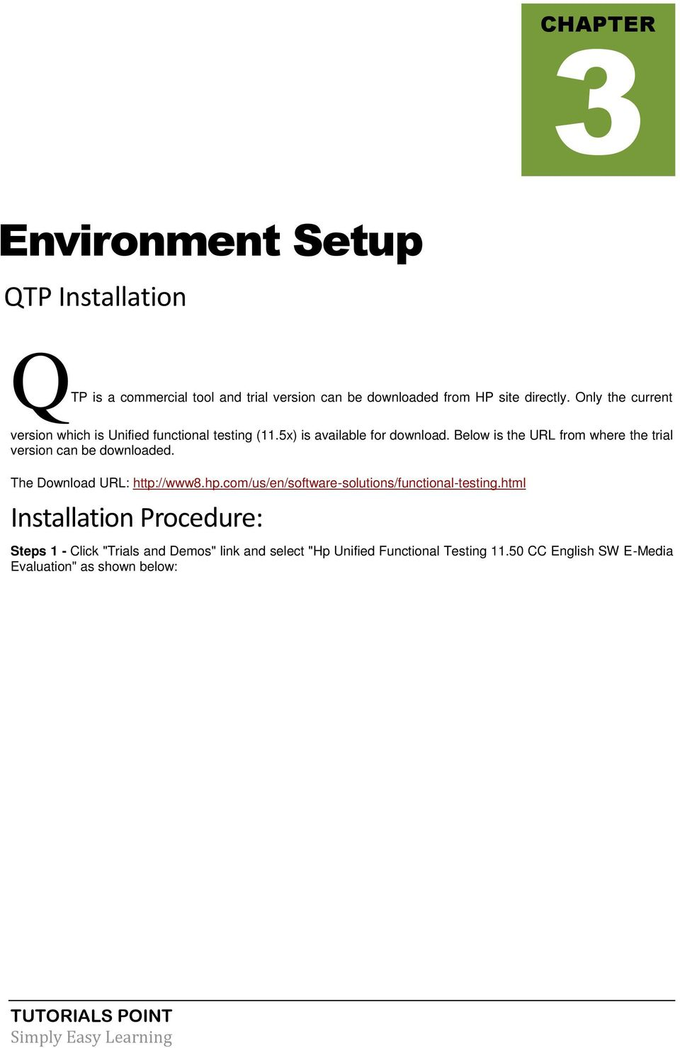 Qtp Tutorial Simply Easy Learning By Tutorialspoint Com Tutorialspoint Com Pdf Free Download