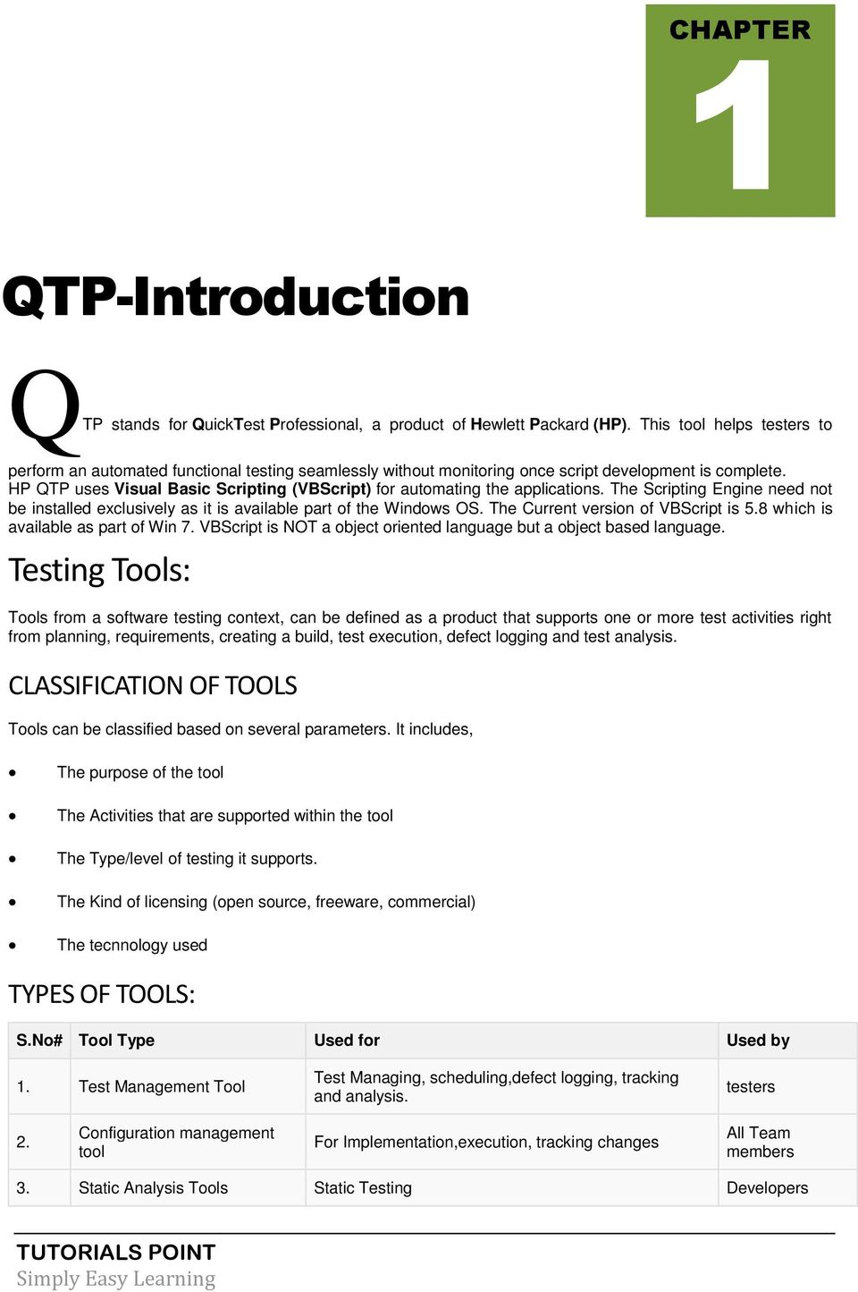 QTP TUTORIAL  Simply Easy Learning by tutorialspoint com