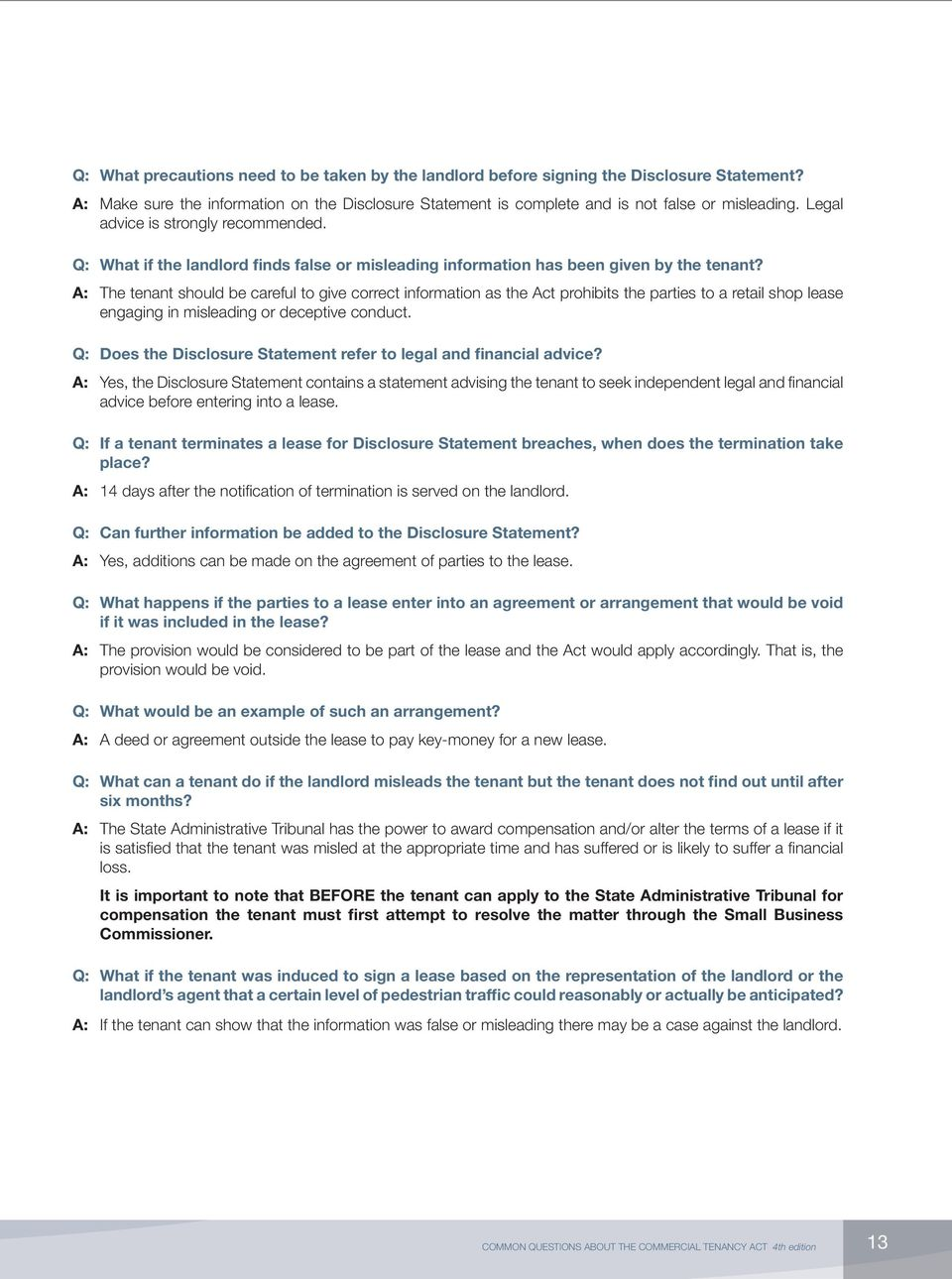 Common Questions About The Commercial Tenancy Act Pdf