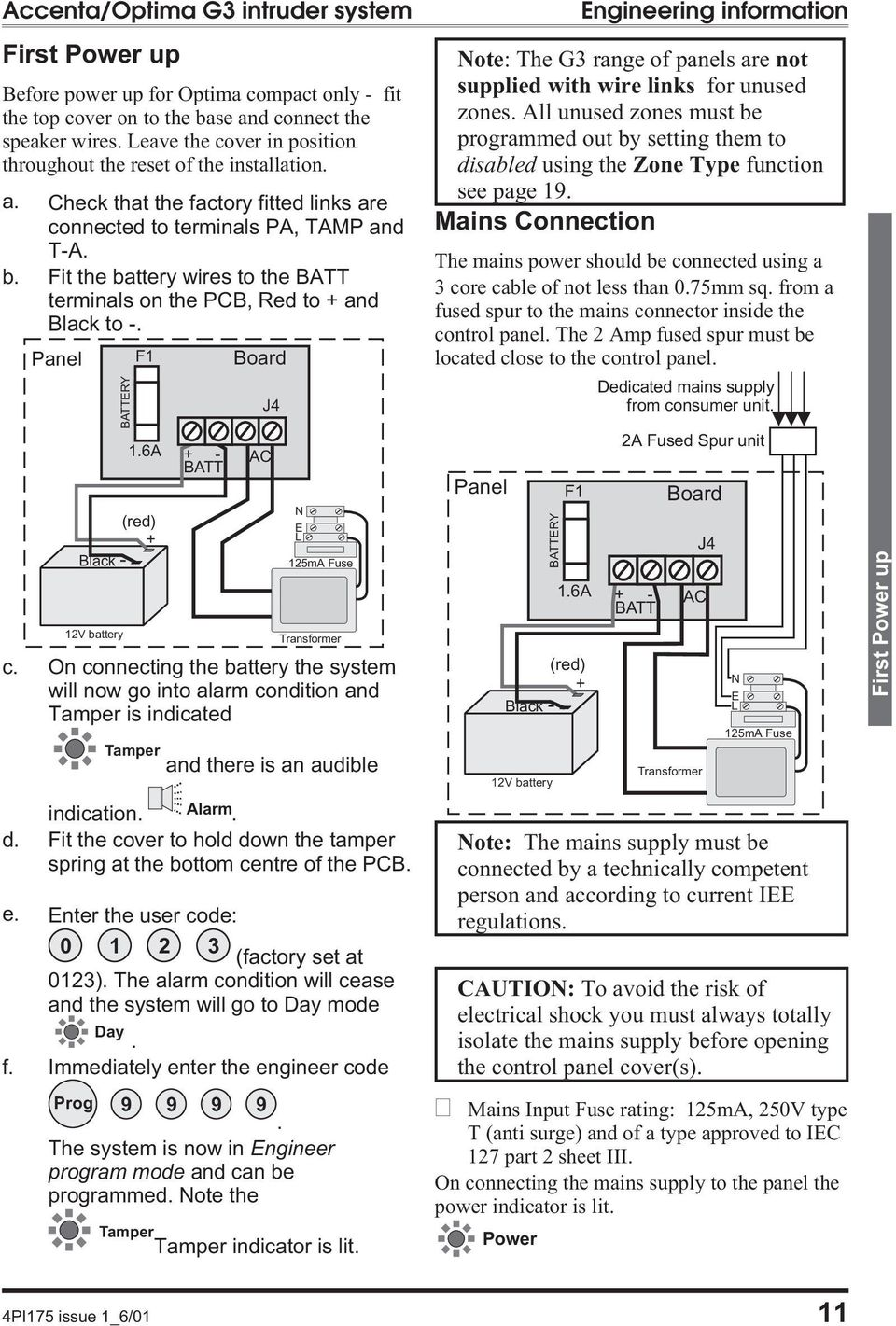 Intruder Alarm System Engineering Information Pdf Transformer Wiring Diagram Fit The Battery Wires To Batt Terminals On Pcb Red And