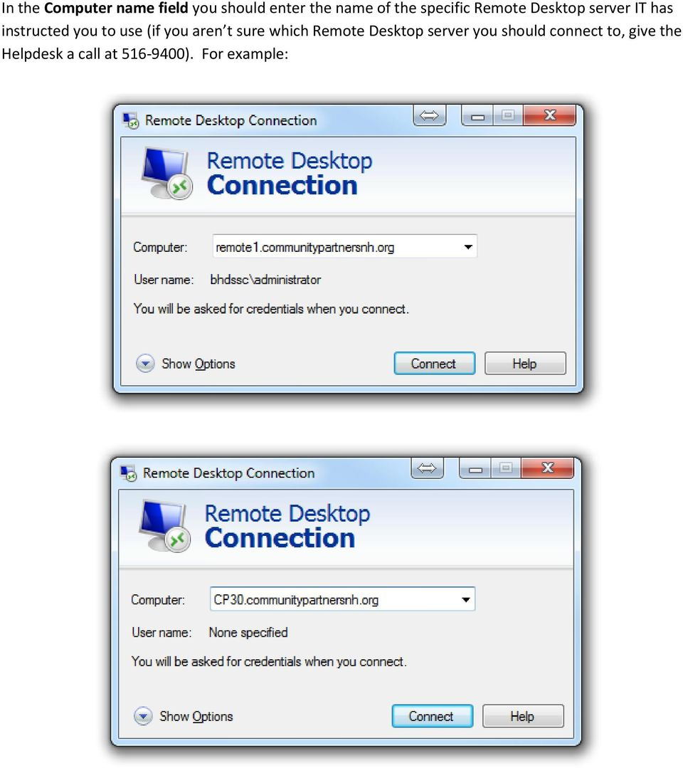 (if you aren t sure which Remote Desktop server you should