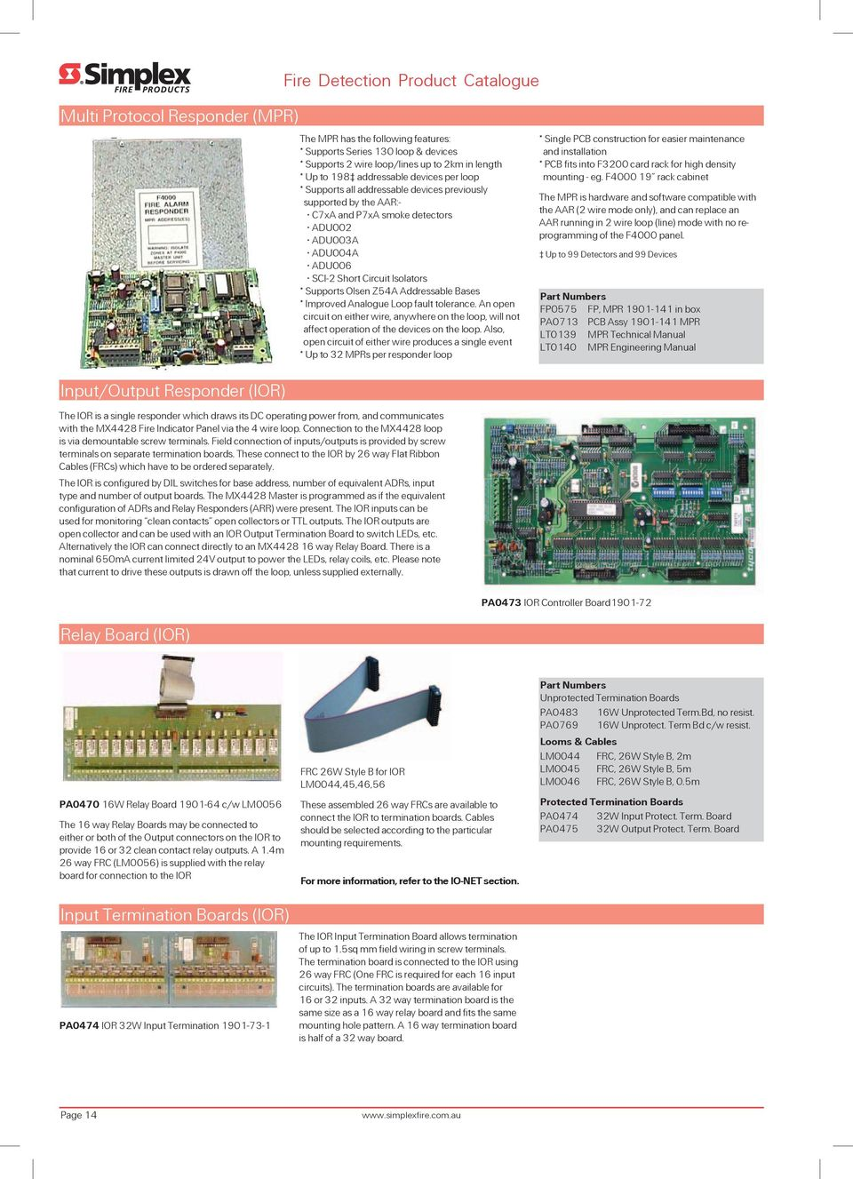 Fire Detection - Australia  Product Catalogue Issue 2 - PDF