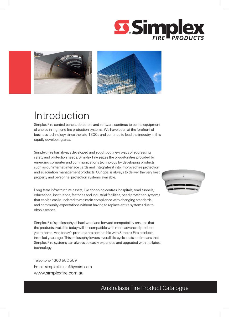 Fire Detection Australia Product Catalogue Issue 2 Pdf System Ebl128 Panasonic Electric Works Europe Ag Simplex Has Always Developed And Sought Out New Ways Of Addressing Safety Protection Needs