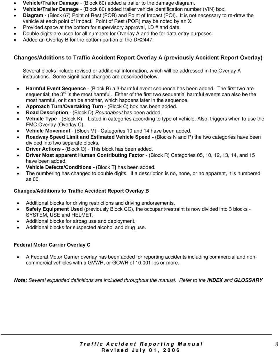 Traffic Accident Reporting Manual - PDF