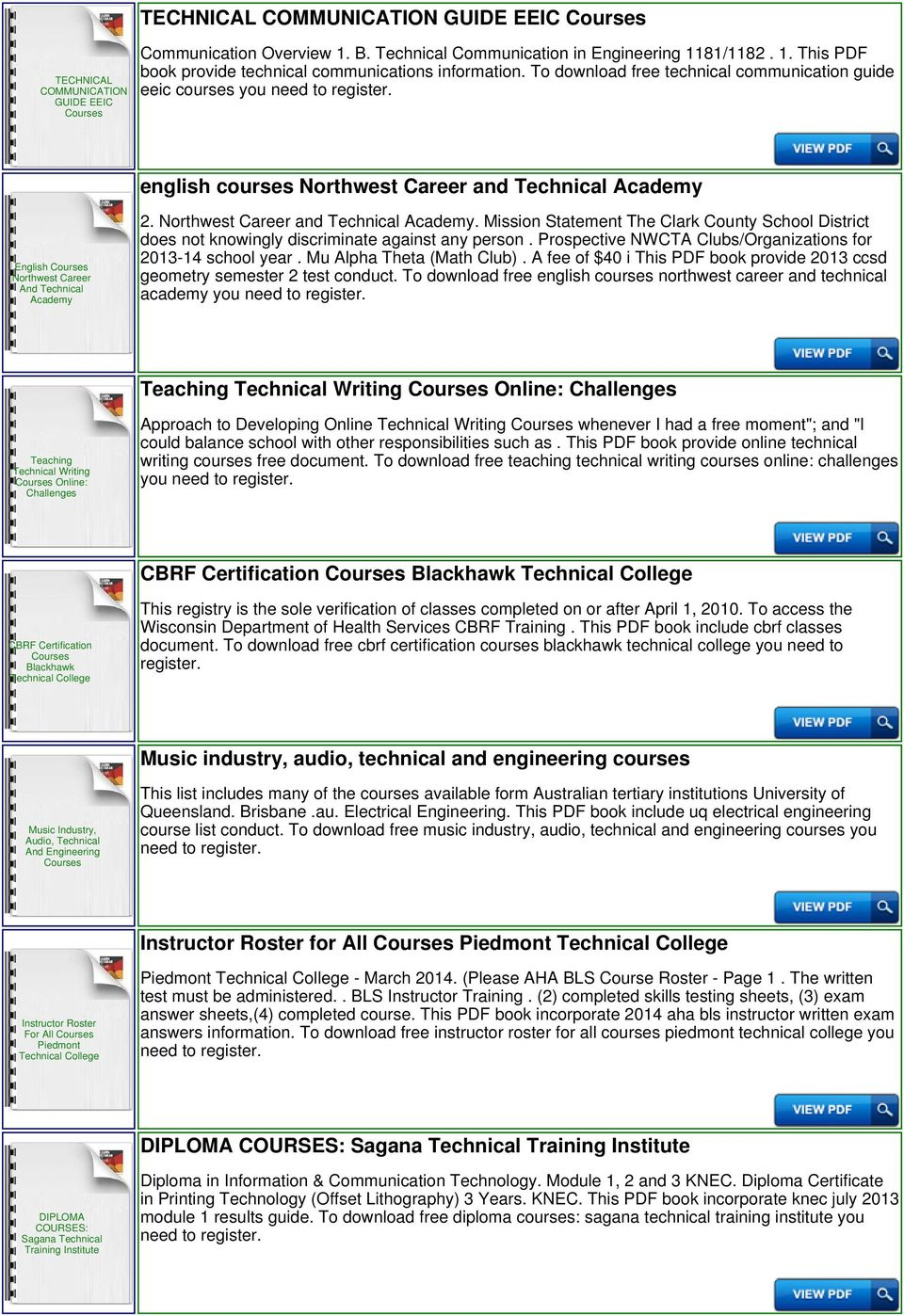Technical University Of Mombasa Courses - PDF