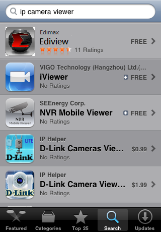 To Install EdiView IP camera utility on iphone, follow the