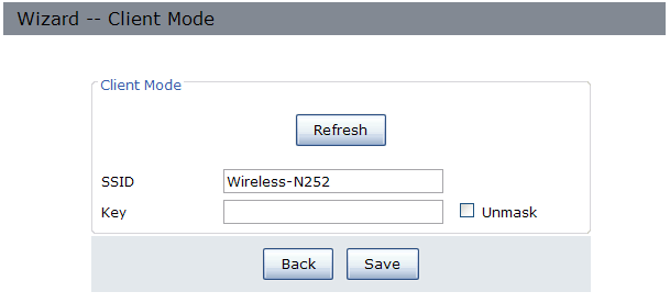 The target network's SSID will be automatically filled into the wireless setting figure.