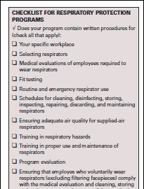 Respiratory Safety and PPE Respiratory Protection Plan The plan must be worksite specific and address: Selecting respirators Medical evaluations Fit testing Emergency