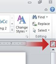 To show or hide the horizontal and vertical rulers, click View Ruler at the top of the vertical scroll bar.