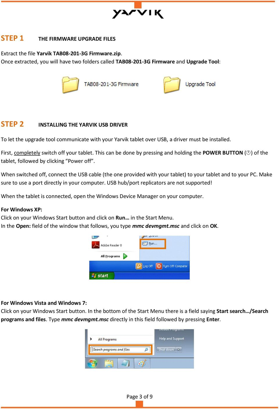 TAB G XENTA 8c 8 3G TABLET FIRMWARE UPGRADE INSTRUCTIONS - PDF