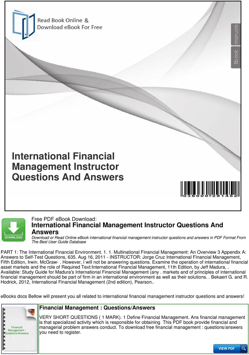 multinational financial management 8th ed