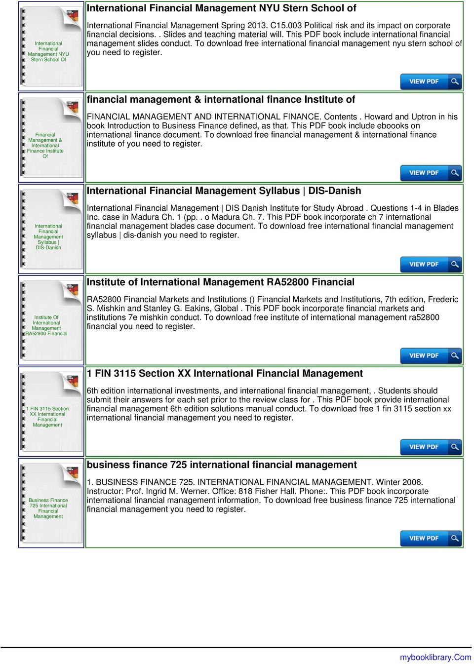 international financial management instructor questions answers pdf rh docplayer net international financial management international finance management final paper