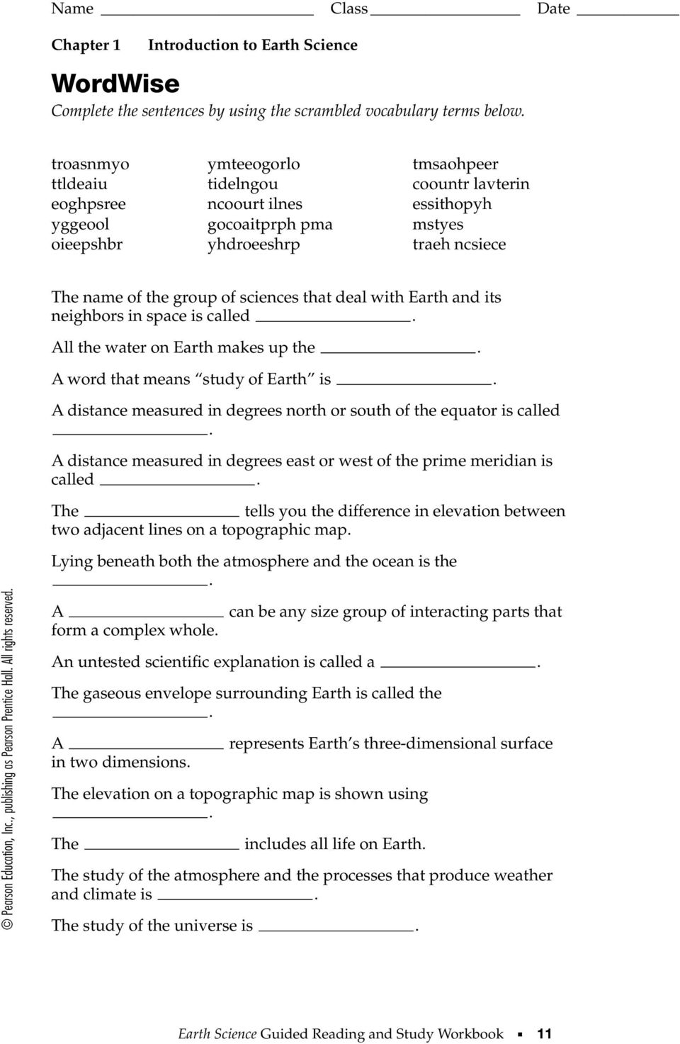 section 1 1 what is earth science this section explains what earth rh docplayer net earth science guided reading and study workbook answers chapter 24.1 earth science guided reading and study workbook answers chapter 4