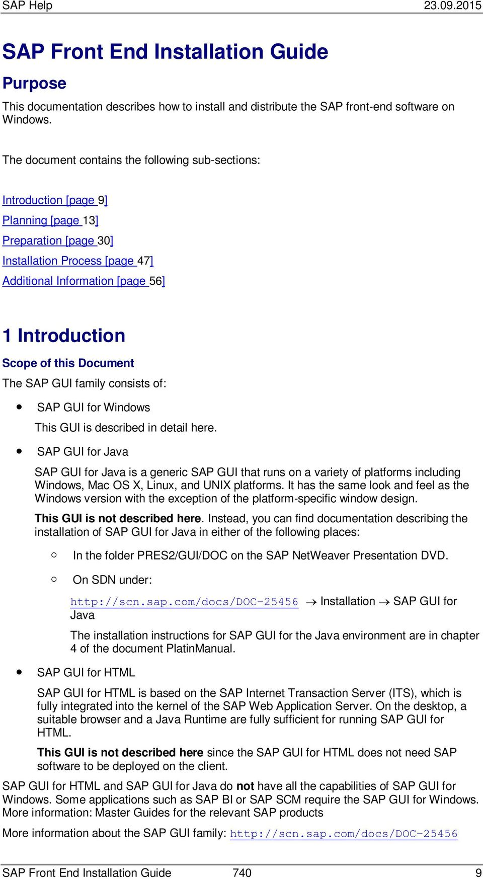 SAP Front End Installation Guide - PDF