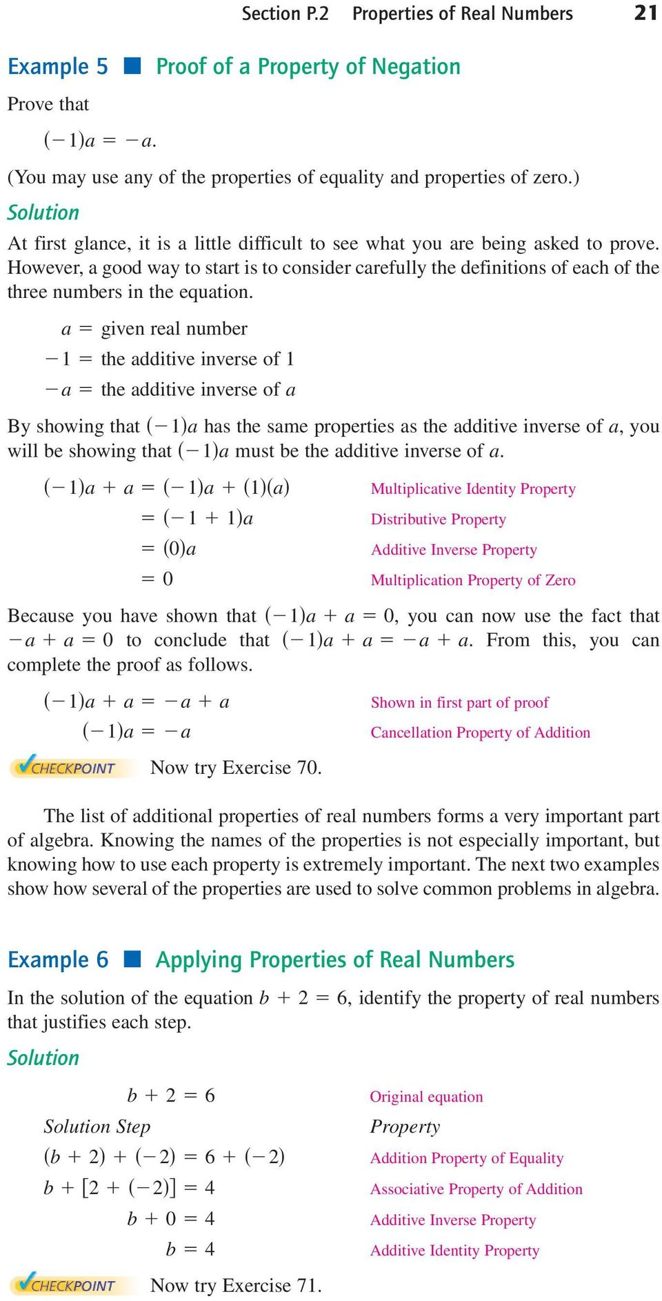 Properties of Real Numbers - PDF