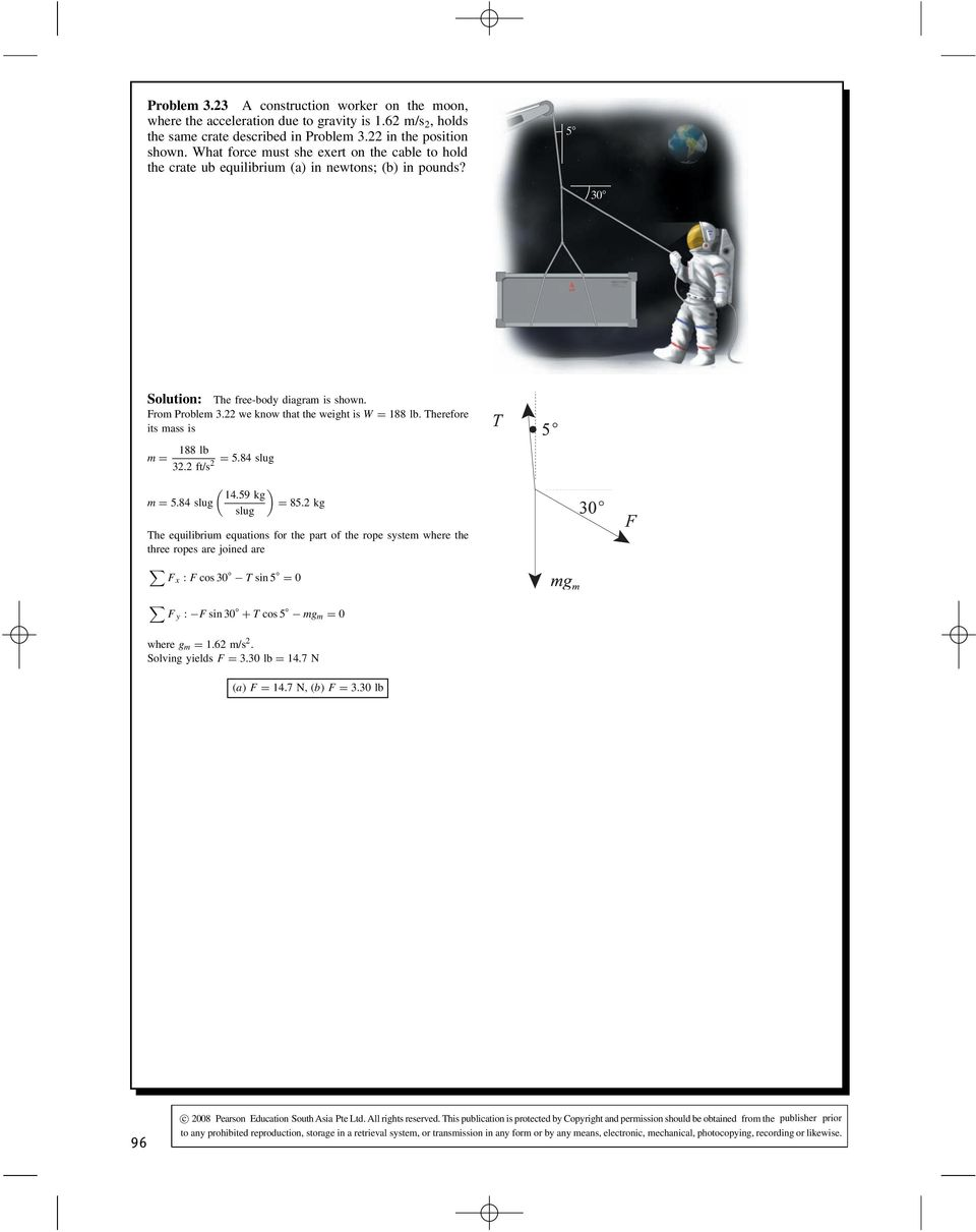 Solution The Free Body Diagram Is Shown To Right Applying Freebody Diagrams Be Of Segments Involved In This Movement Herefore Its Mass 188 Lb M 584 Slug 2 322 Ft S