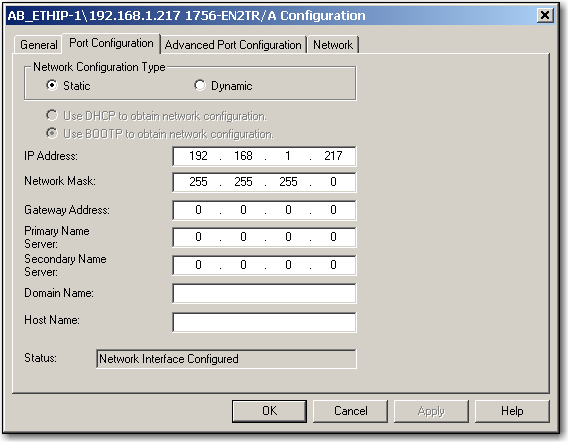 Set the Network IP Address Chapter 4 Set the Network IP Address with RSLinx Software Follow these steps to use RSLinx software to set the communication module s IP address. 1.
