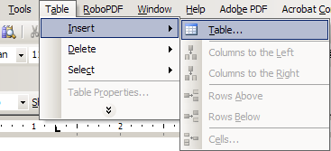 Working with Tables in Microsoft Word The purpose of this document is to lead you through the steps of creating, editing and deleting tables and parts of tables.