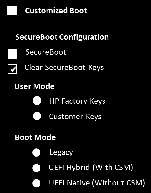 EFI Preboot Guidelines and Windows 8 UEFI Secure Boot for HP