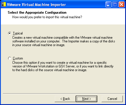 VMware Virtual Machine Importer User s Manual To convert a virtual machine or system image using the Import command: 1.