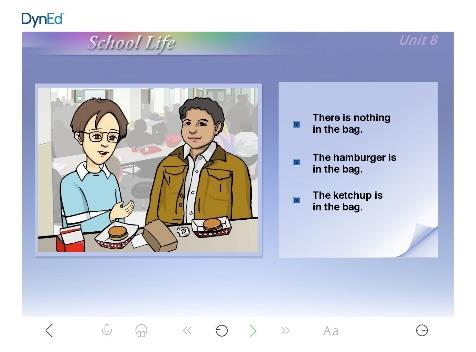 Warm-Up Lessons use pictures to present and extend the grammar and vocabulary of daily life.