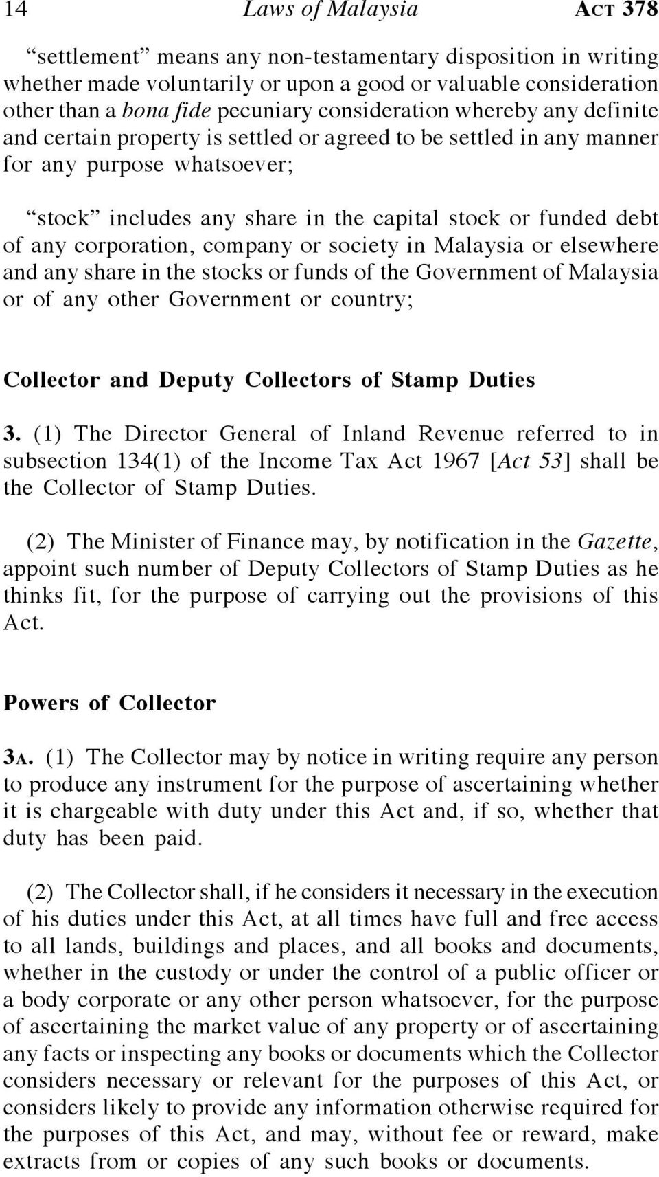 Stamp Laws Of Malaysia Reprint Act 378 Stamp Act Pdf Free Download