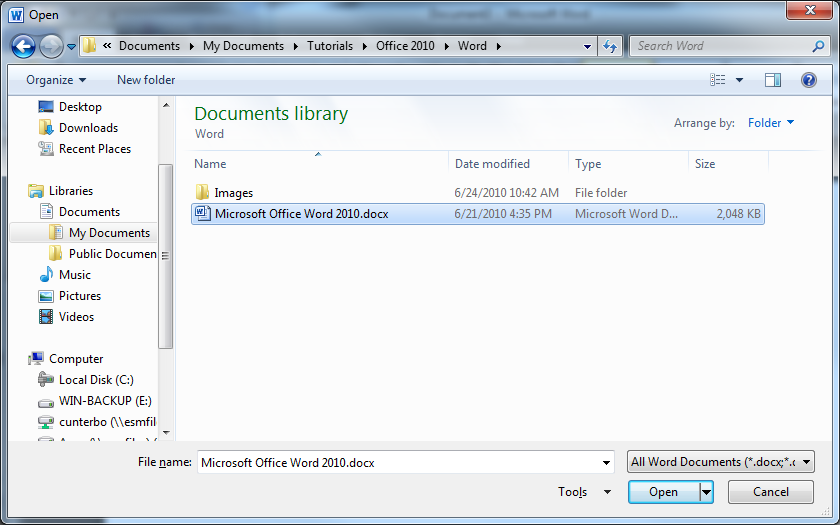 Creating a New Document To begin a new document, click on File and then click New. The New Document window will appear, giving you various options to create a new document.