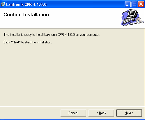 Figure 20: Select Installation Folder Window 3. Browse to the folder where you want to install the CPR. We recommend you select the default. 4.