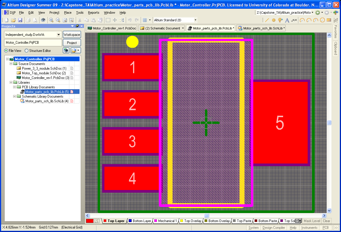 Pcb Design With Altium Schematic Entry Libraries And Designing Electrical Builder Figure 23 Footprint Save Location After Finishing These Set Of Windows A Will