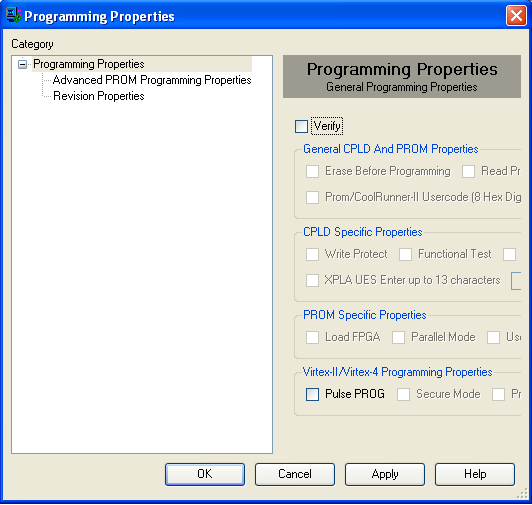 Figure 67: Programming Options A progress indicator will appear. Once the programming is complete, the program will be sure to let you know if it was successful or if it failed.