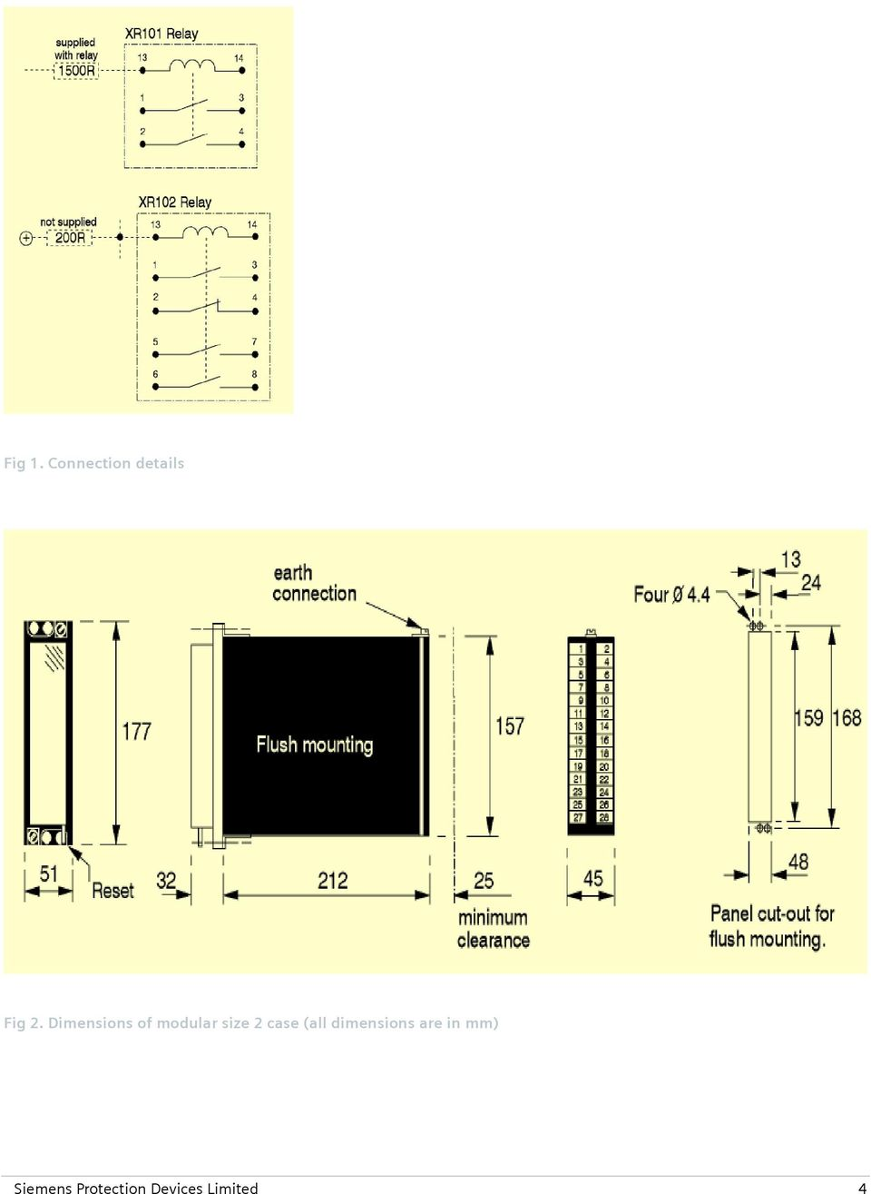 Reyrolle Protection Devices 7pg17 Xr Intertripping Interposing Reed Relay Contact Diagram 1 Case All Dimensions Are In Mm
