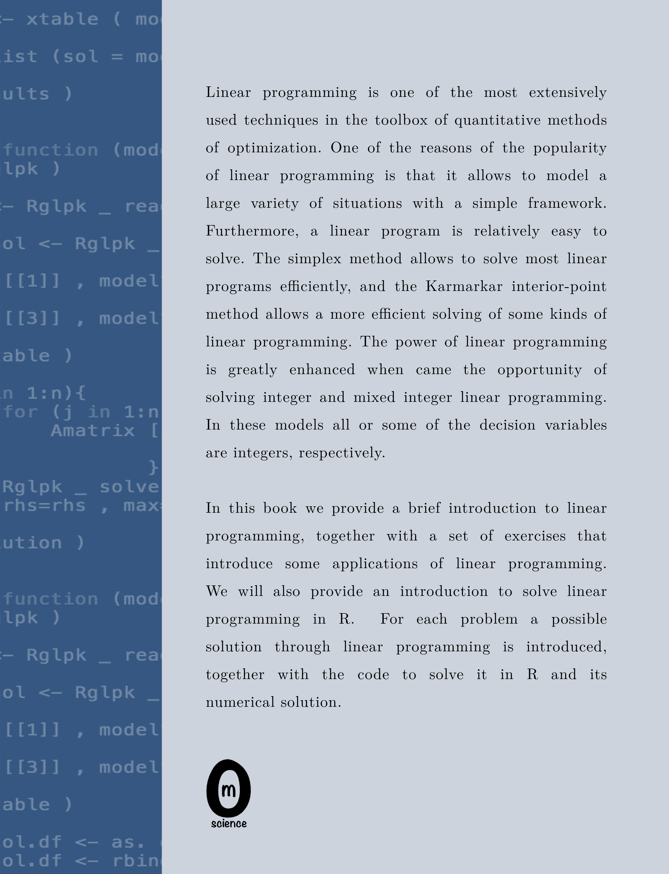 Modeling and solving linear programming with R  Jose M Sallan Oriol