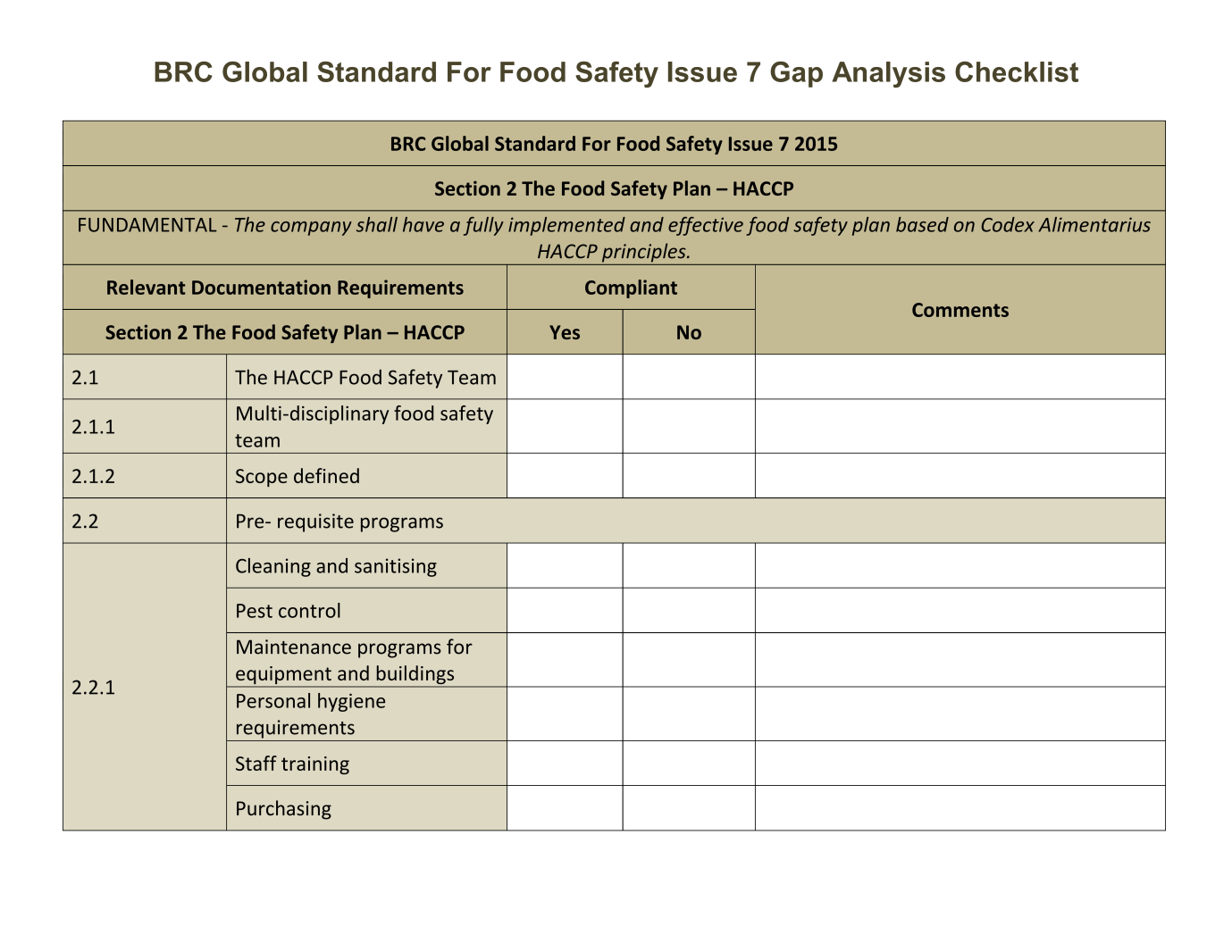 BRC Food Safety and Quality Management System  New Issue 7 - PDF