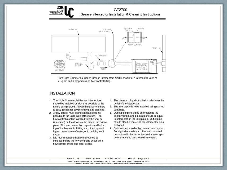 Plumbing code in commercial kitchens nh boa may 9 pdf always install where there is easy access for cover removal and cleaning 2 a aloadofball Image collections