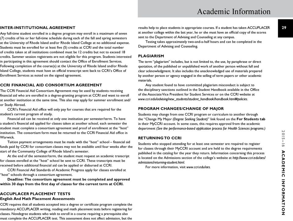 Ccri Summer Courses 2020.Academic Information Ccri S Definition Of An Educated