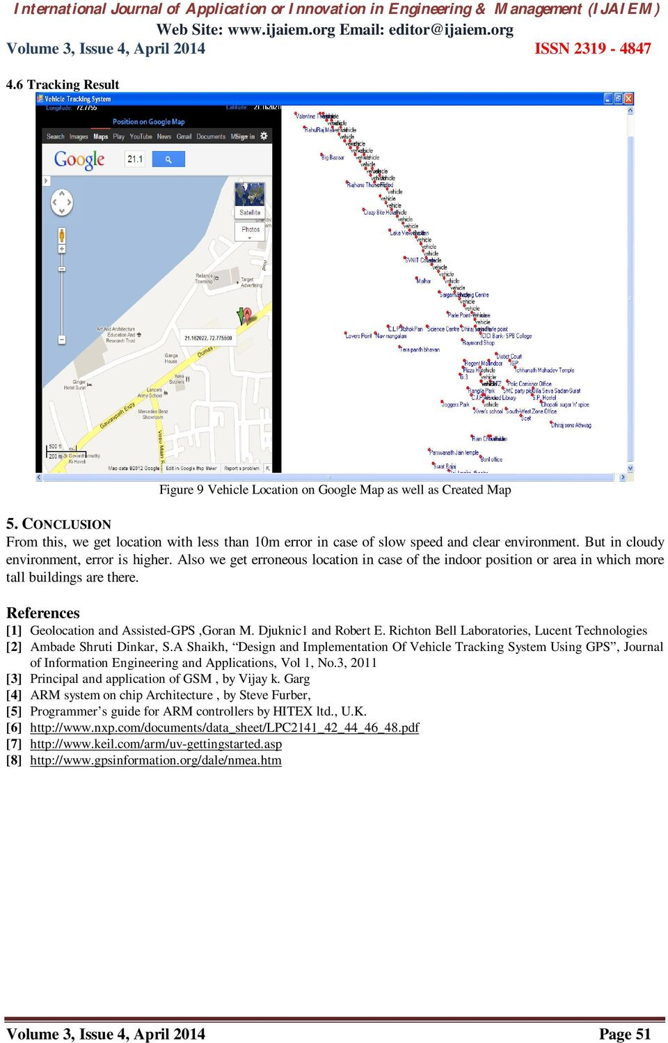 Vehicle Tracking System With Gps Gsm Interface And Self Created Map Pdf Free Download