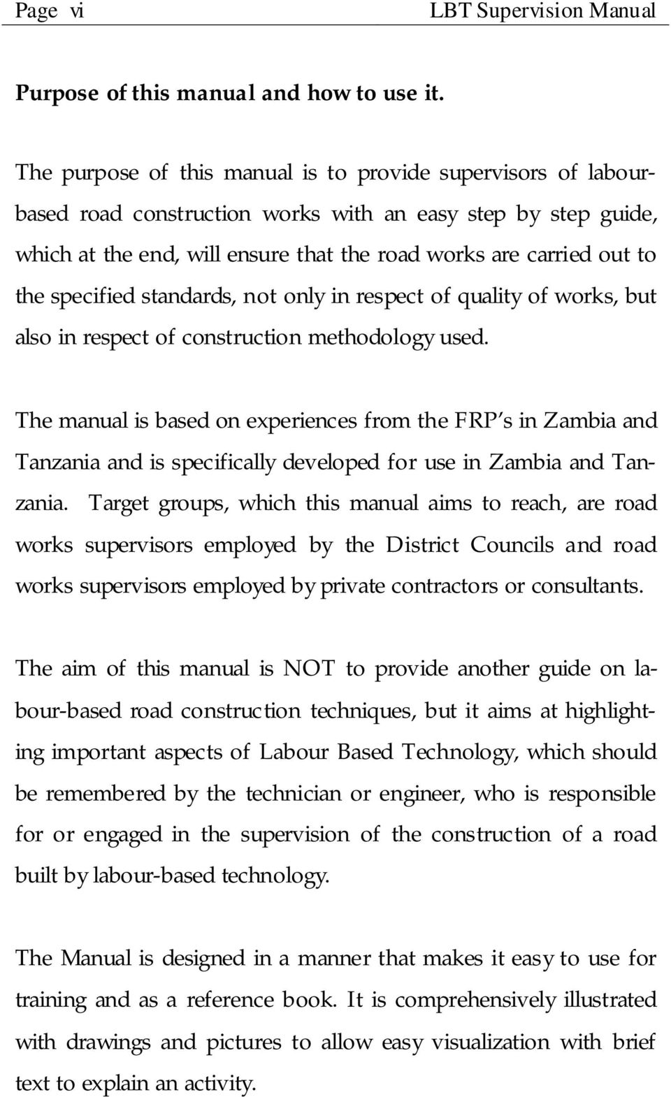 MANUAL FOR SUPERVISION OF LABOUR BASED ROAD REHABILITATION WORKS - PDF