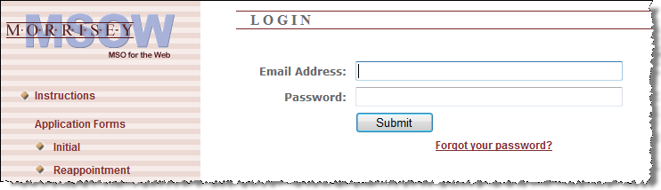 M S O W P H P W o r k s t a t i o n C o n f i g u r a t i o n G u i d e 14 Initial Login Practitioner Home Page users will receive a pair of emails from the organization s MSOW system.
