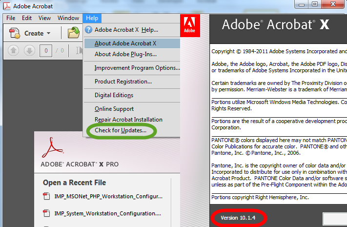 M S O W P H P W o r k s t a t i o n C o n f i g u r a t i o n G u i d e 8 Adobe Reader Settings (continued) The following check is typically required only if a user is experiencing problems. 19.