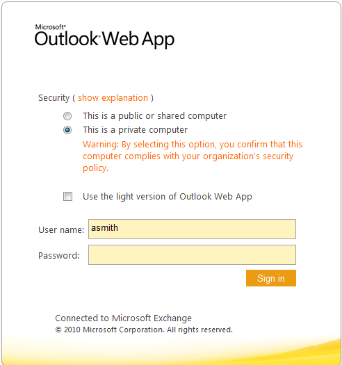 What is Outlook Web App 2010?