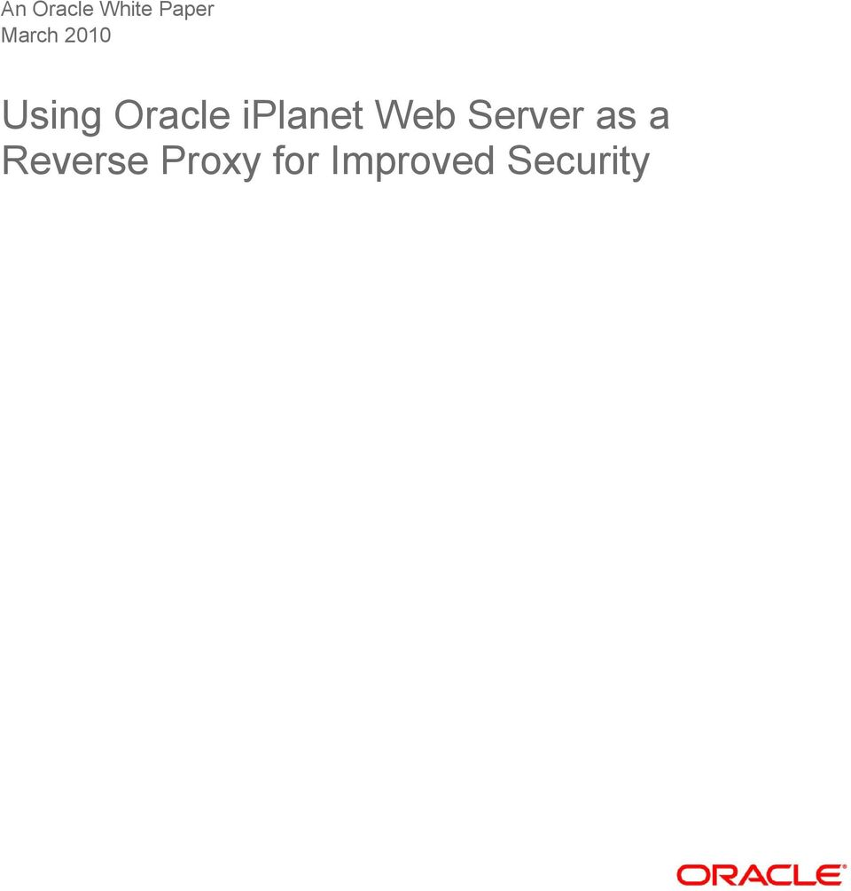 Cluster environment (oracle iplanet web server 7. 0. 9.